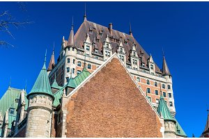 View of Chateau Frontenac in Quebec City, Canada