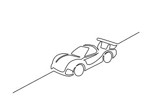 Prototype race sports car