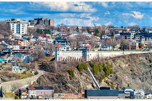 View of Levis town from Quebec City, Canada