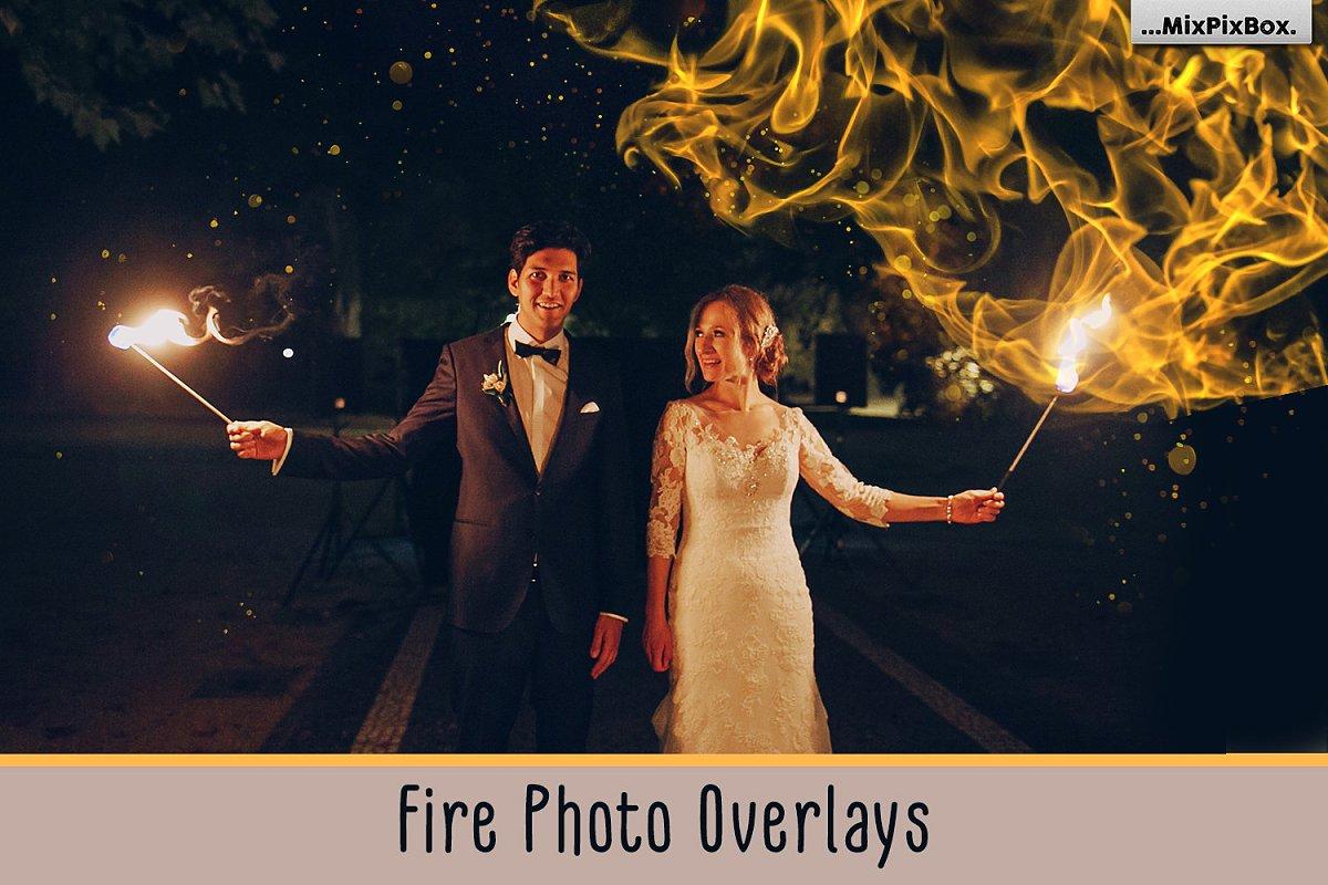 aabb1145d7cf Fire Photo Overlays ~ Photoshop Add-Ons ~ Creative Market