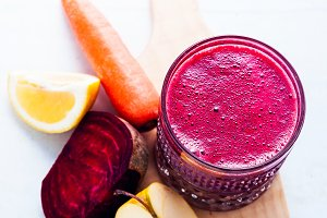 healthy freshly squeezed Juice from