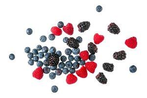 fresh, summer, ripe, bright berries