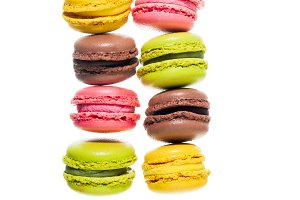 colorful traditional French sweets m