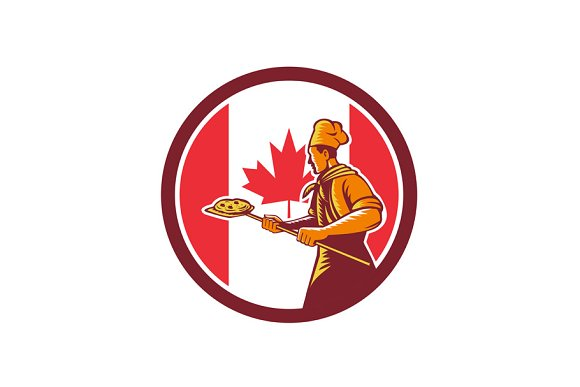 Canadian Pizza Baker Canada Flag Ico
