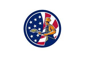 American Pizza Baker USA Flag Icon