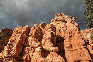 Hoodoo Rocks And Dramatic Sky