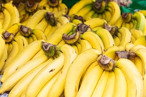 Bunch of ripened bananas