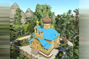 3D visualization. Orthodox church