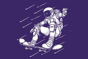 Astronaut Skating