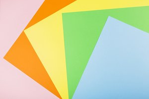 Multicolored paper