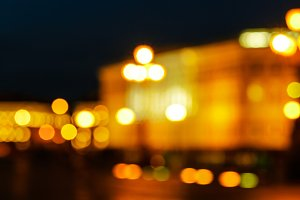 Night city defocused