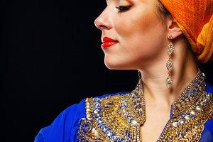 Oriental beauty in turban
