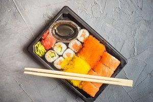 Sushi set concept