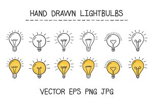 Hand Drawn Lightbulbs