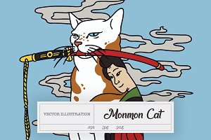 Monmon Cat Illustration