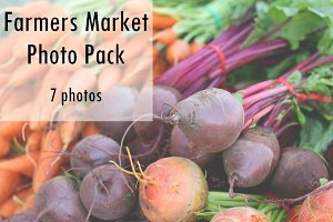 Farmers Market Photo Pack - 7 Photos