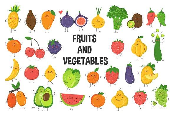 Fruits And Vegetables Set