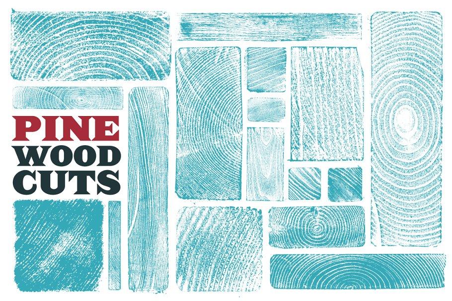 Pine Woodcuts