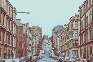 Vintage look Glasgow hill