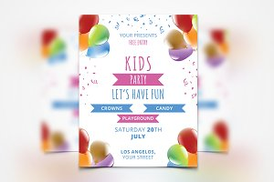 Kids Party Flyer #037
