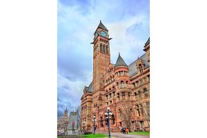 The Old City Hall, a Romanesque civic building and court house in Toronto, Canada