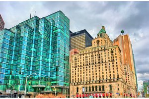 Buildings in downtown Toronto, Canada