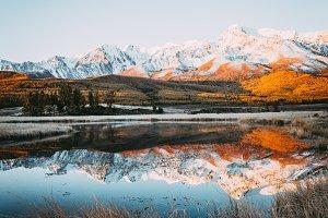 Mirror surface of lake