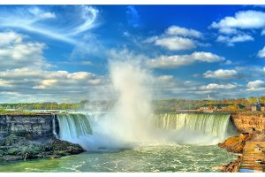 Horseshoe or Canadian Falls at Niagara Falls