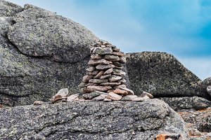 Pile stones for tourist navigation