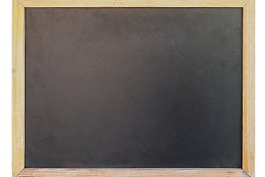 Blank blackboard with copy space isolated over white