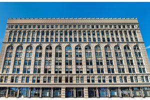 Ellicott Square Building, a historic office complex, completed in 1896. Buffalo - New York