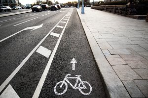 Bicycle white sign