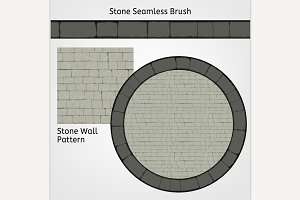 Stone Wall Pattern & Seamless Brush