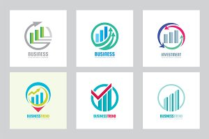 Business Trend Exchange - Logo Set