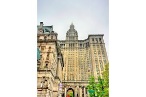 Manhattan Municipal Building in New York City, USA