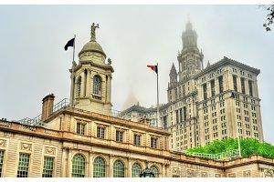 New York City Hall and Manhattan Municipal Building