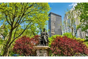 William Seward Statue at Madison Square Park in Manhattan, New York City