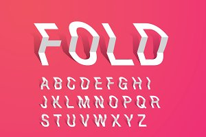 fold/paper typography design