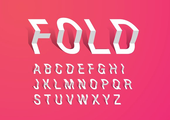 Fold Paper Typography Design