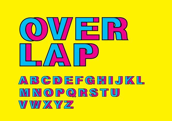 Overlap Intertwine Typography Vector