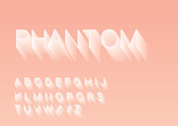 Long Shadow Typography Design Vector
