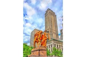 William Tecumseh Sherman Monument on Grand Army Plaza in Manhattan, New York City