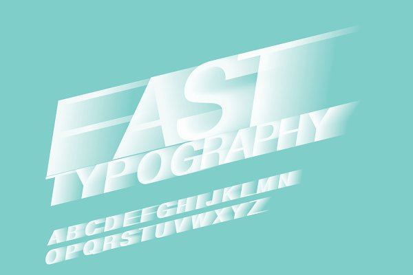 motion blur/fast typography vector