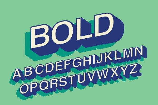 bold 3d typography design ~ Illustrations ~ Creative Market