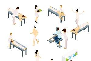 Massage icons set