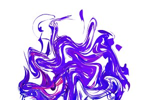 Bright colourful purple paint splash