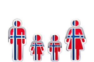 People icon with Norway flag