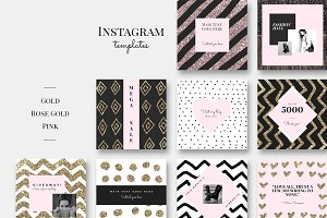 Instagram Pack - GOLD-ROSE GOLD-PINK