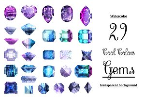 Watercolor designer gems