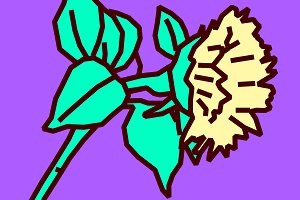 Sunflower design art Sketch.